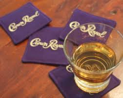 crown royal gift set crown royal coaster etsy