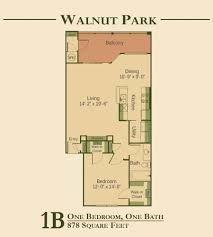 One Bedroom Floor Plan Walnut Park Apartments Apartments In Austin Texas