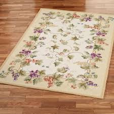 Kitchen Rug Washable Decorating Magnificent Kitchen Rugs With Grapes Vine In Beige