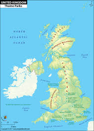 Map Of The United Kingdom Uk Theme Parks Map Best Theme Parks In The Uk