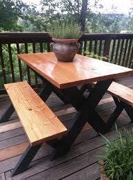 Plans Building Wooden Picnic Tables by 8 Best Diy Picnic Table Images On Pinterest Outdoor Tables