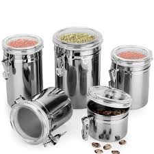 stainless steel canisters kitchen glass canisters for kitchen in state metal storage food bottles