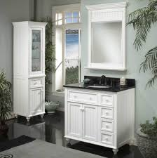 White Bathroom Cabinet With Glass Doors White Painted Wooden Wall Cabinet With Glass Door Furniture