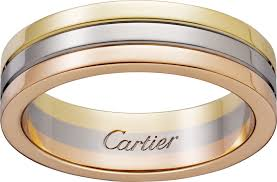cartier rings wedding images Crb4052100 trinity wedding band white gold yellow gold pink png