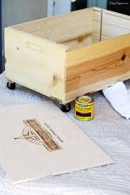 wine crate home office printer stand u0026 storage frugelegance
