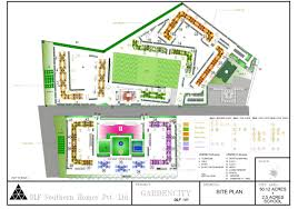 Airport Floor Plan by Master Plan Gardencity Dlf Limited Chennai Residential