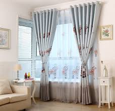 Light Blue Curtains Blackout Light Blue British Style Children U0027s Curtains Bedroom Windows And