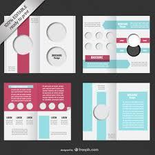 2 fold brochure template free bi fold editable brochure mock up vector free