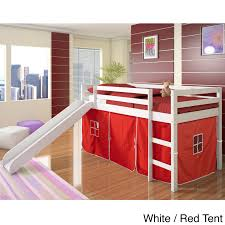 Bunk Bed With Slide And Tent Donco Size Tent Loft Bed With Slide Free Shipping