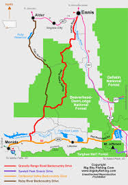 Montana Travel Maps images The ruby river road backcountry drive in montana information gif