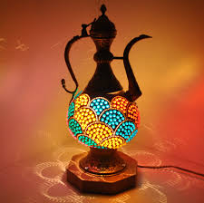 Unusual Table Lamps Furniture Luxury Decorative Night Lamps With Mosaic Lamp Cracker