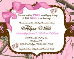 baby shower invitation cards pink camo baby shower invitations