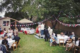 Wedding In Backyard by Casual Backyard Wedding Reception Home Design