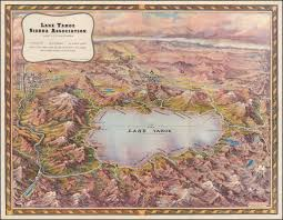 Tahoe Map Lake Tahoe Barry Lawrence Ruderman Antique Maps Inc