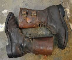 s boots combat 1940 s us army brown leather buckle combat boots boots