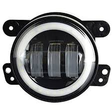 Led Fog Light Pair 4 Inch 30w Projector Lens Led Fog Lights White Halo Fits Jeep