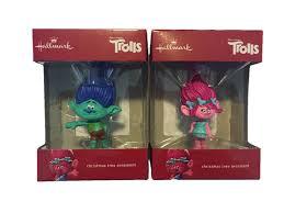 hallmark dreamworks trolls ornament bundle set with poppy and