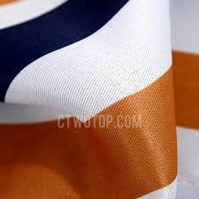 style orange and navy blue stripe polyester nursery curtains