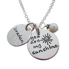 Personalized Disc Necklace Personalized Necklaces Hip Mom Jewelry