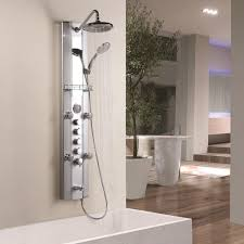 aluminum thermostatic shower tower with tub faucet