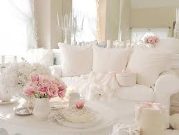 White Shabby Chic Bedroom by Window Treatme Shabby Chic Bedrooms White Wall Interior Color