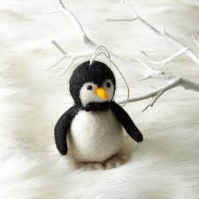 felt penguin ornament west elm