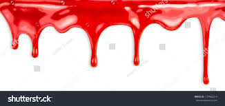 Red Paint by Liquid Red Paint Dripping On White Stock Photo 127462214
