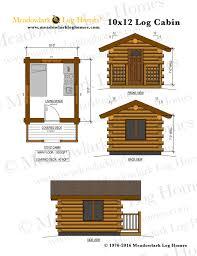 10x12 log cabin meadowlark log homes detailed plans detailed plans