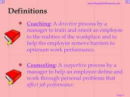 Counseling Skills For Managers Coaching Skills Powerpoint