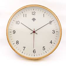 silent wall clocks hippih silent wall clock timber 8 inches non ticking digital white