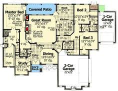 One Story House Plans With Bonus Room 4 5 Bedroom One Story House Plan With Exercise Room Office