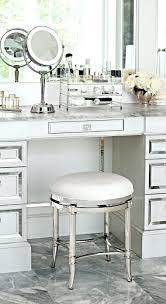 Lucite Vanity Bench Bathroom Amazing Vanity Stool With Wheels For Chrome Legs