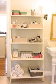 organized bathroom shelving simply organized