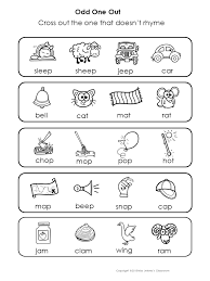 rhyming words odd one out special education my tpt products