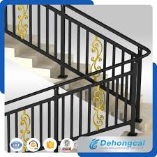 china luxurious residential modern wrought iron railings