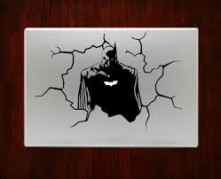 batman bursting out cracked wall decal stickers for macbook pro batman bursting out cracked wall decal sticker for apple macbook pro air retina 13 15 inch