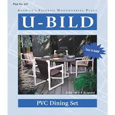 dining room table woodworking plans shop u bild pvc dining set woodworking plan at lowes com