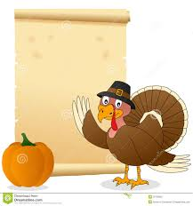 thanksgiving turkey and scroll stock vector image 26726832