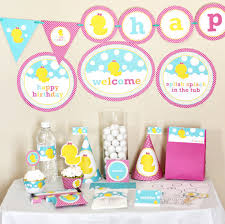duck decorations girl rubber ducky birthday decorations printable rubber duck