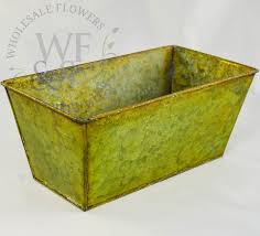 Metal Planter Box by Rustic Green Rectangle Metal Planter Wholesale Flowers And Supplies