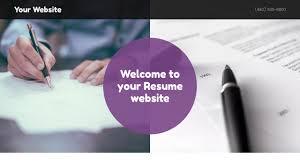 Resume Web Templates Resume Website Templates Godaddy