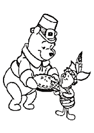 winnie the pooh thanksgiving coloring pages printable coloring