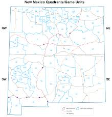 State Of New Mexico Map by Maps Frequently Requested New Mexico Hunting Unit Maps Bureau