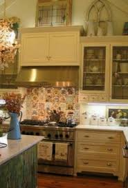 Top Of Kitchen Cabinet Decor Ideas Decorating Above Kitchen Cabinets Tuscany Here U0027s A Closer Look