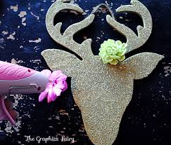 Christmas Decorations With Reindeer homemade christmas ornaments glitter reindeer the graphics fairy