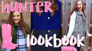how to style hunter boots preppy lookbook youtube