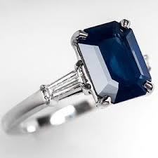 sapphire emerald cut engagement rings sapphire ring engagement polyvore