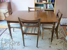 mid century modern dining table set restoring a mid century modern dining set reality daydream