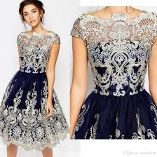 vintage short prom dresses 2017 lace embroidery homecoming dresses