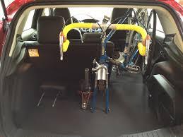 hatchback cars interior interior bike rack for a 2012 ford focus hatchback steve block